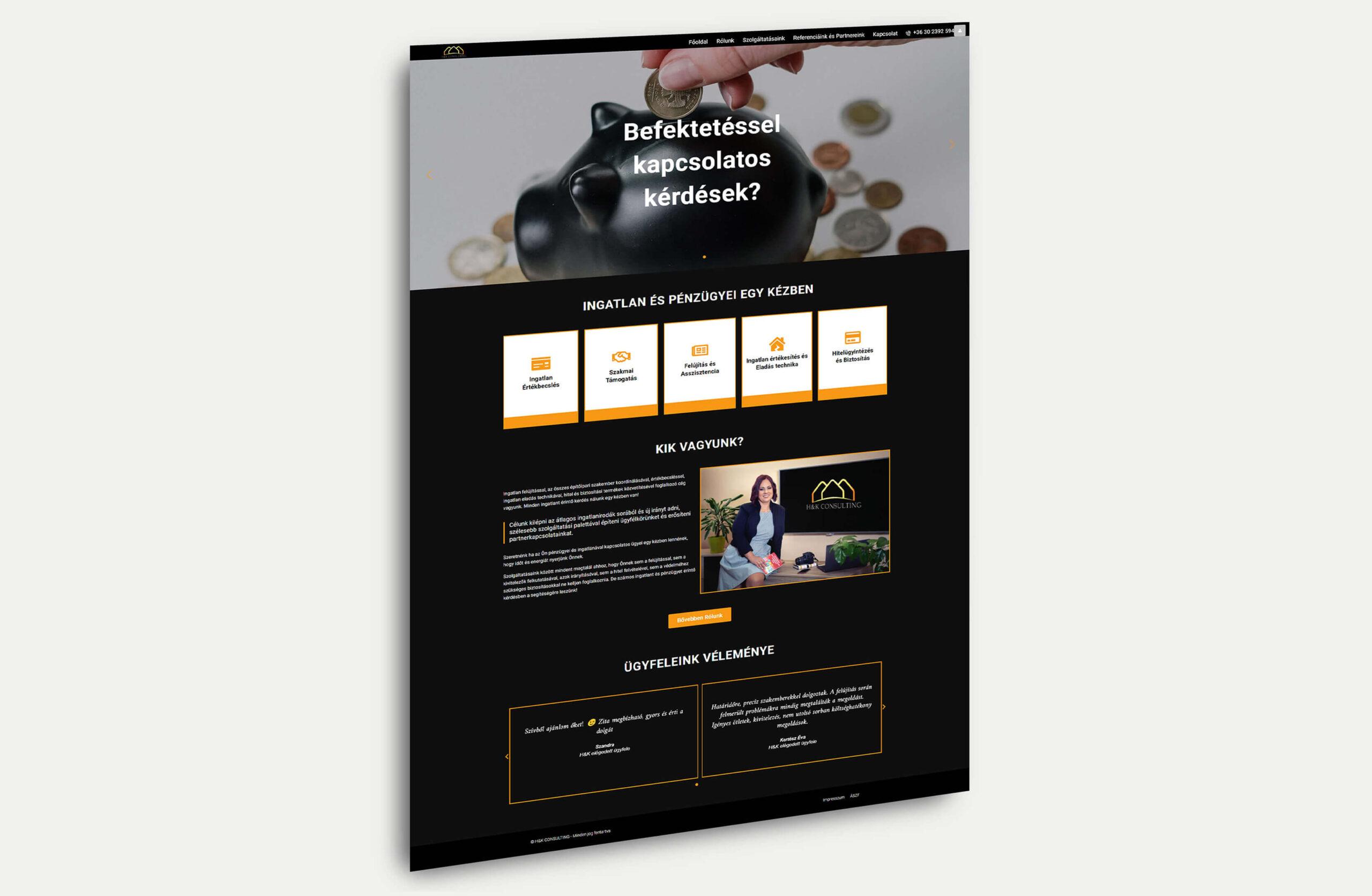 h&k consulting weboldal