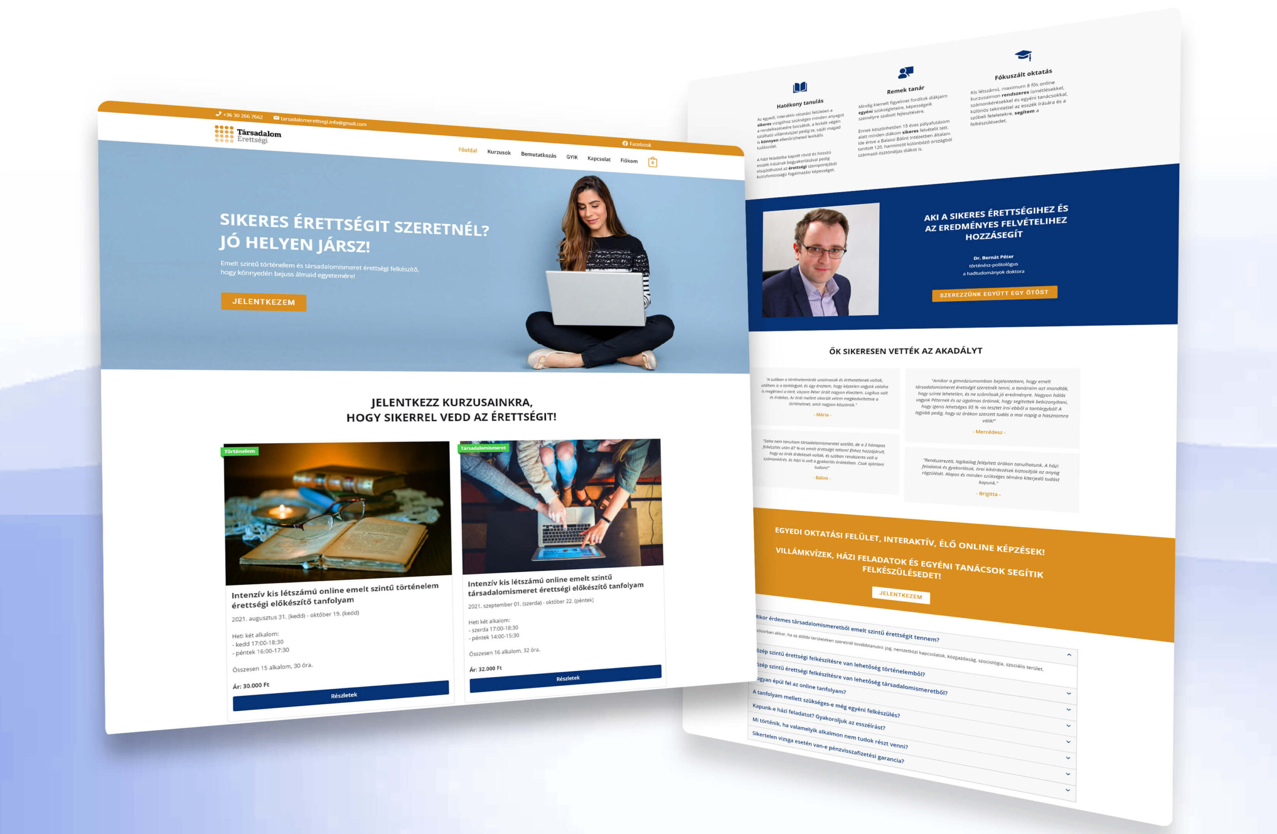 e-learning weboldal
